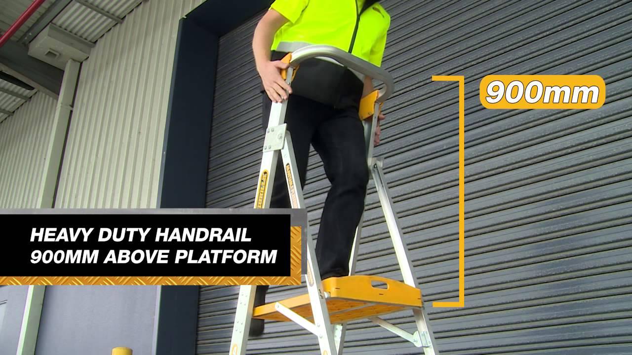 Gorilla Adjustable Platform Ladder - PL0406-I