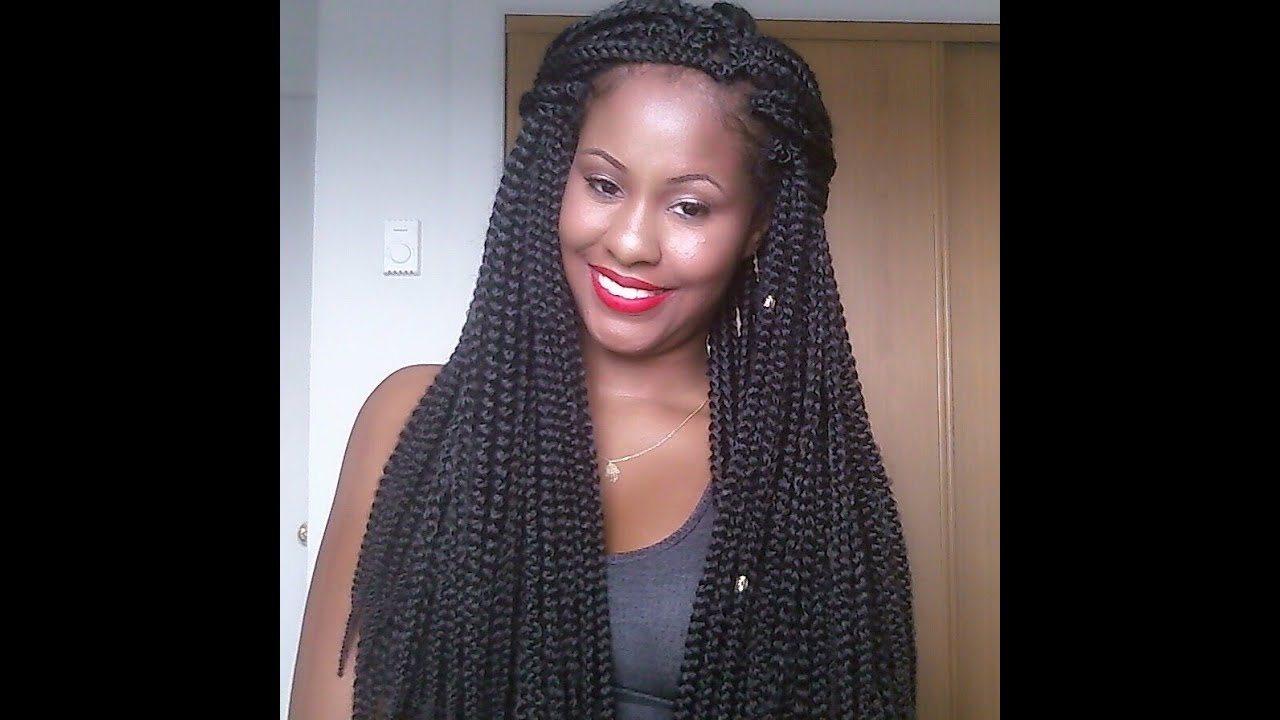 Crochet Box Braids Long : crochet Freetress Medium Box Braid Long initial Review - YouTube