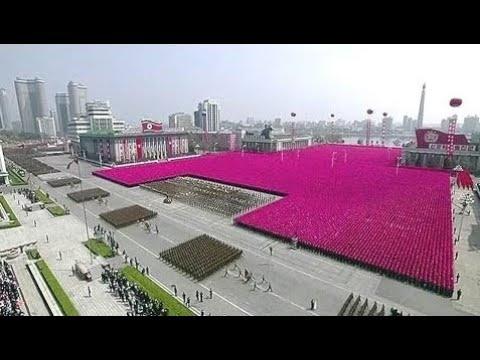 Breaking News:  North Korean military parade in Pyongyang. April 15. 2017. Kim Jong un   북한의 군사이드 퍼