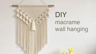 DIY   macrame leaves ribbons wall hanging   마크라메 나뭇잎 리본 월 행잉