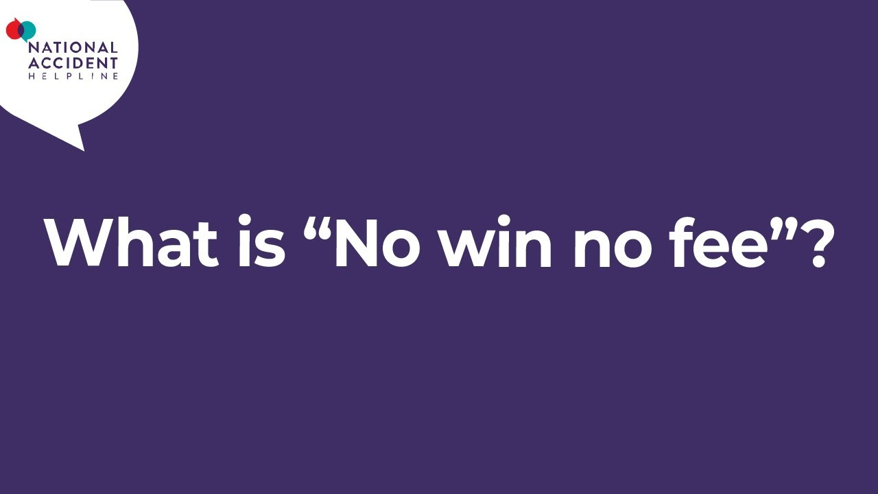 What is 'no win no fee'?
