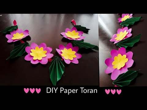Christmas Decoration Ideas|DIY Paper Toran/Garland| Diwali decorations ideas|Quicky Crafts
