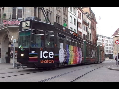 10 different tram types in Basel, Switzerland