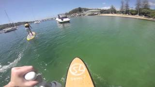 Stand Up Paddleboarding at the Spit, Sydney, Australia