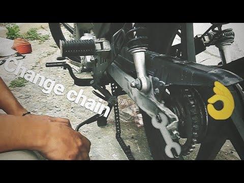 How Change Chain On Motorcycle(Αλλαγή αλυσίδας στο παπάκι)