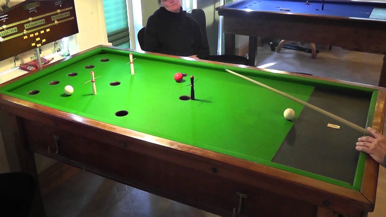 Guernsey Bar Billiards Pairs Open Final   Game 1   YouTube