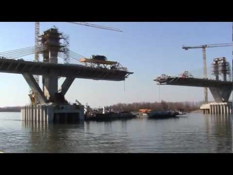 Pod Calafat - Vidin 2012.marc.05. Danube River bridge building