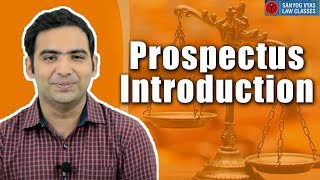 Prospectus Introduction by Advocate Sanyog Vyas