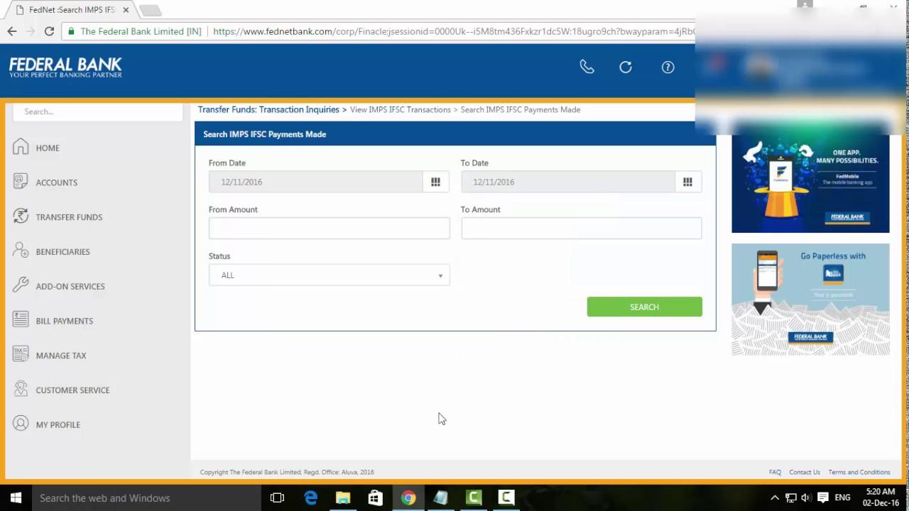 icici net banking transaction status