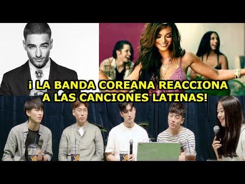 Banda Coreana Reacciona a CANCIONES LATINAS y Aprenden Español ♥LinaWoo♥