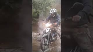 Probando la moto