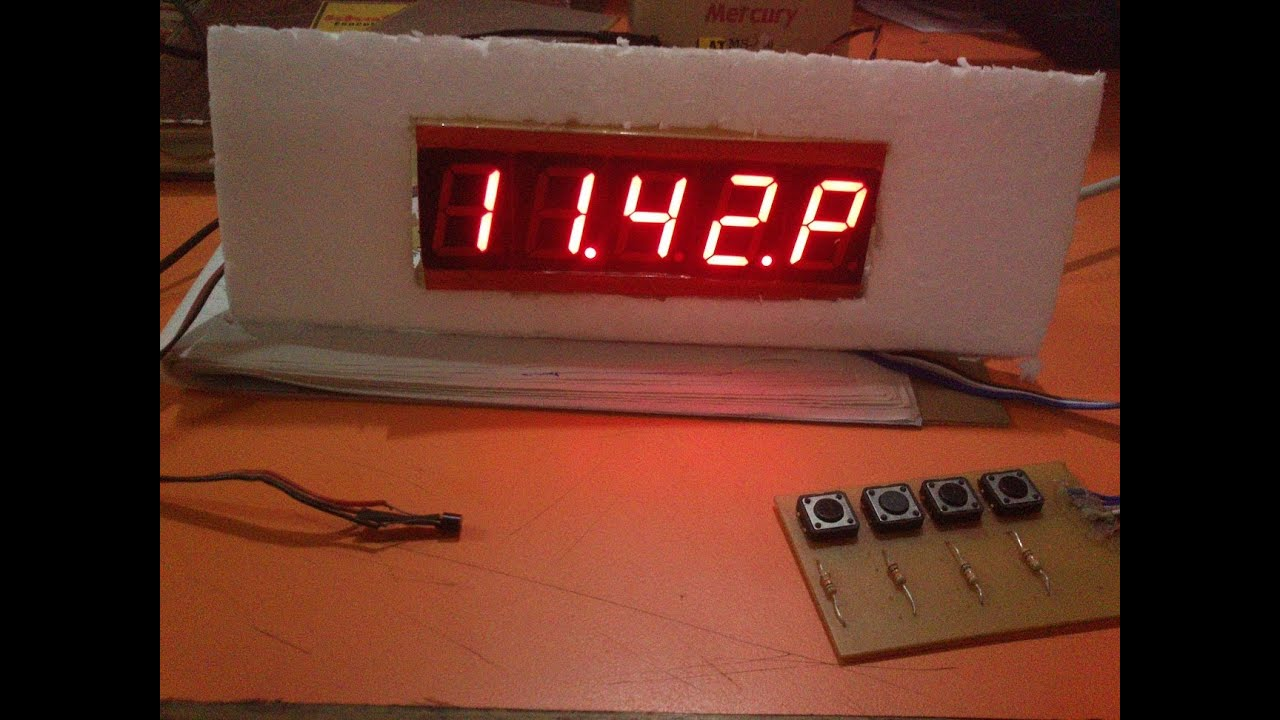 Seven Segment Clock With Temperature Display Using Ds1307 And Ds18b20 Digital 8051 Microcontroller Rtc