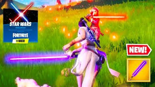 WELCOME TO FORTNITE STAR WARS! Lightsabers, Free Rewards & Star Wars Challenges (New Fortnite Event)
