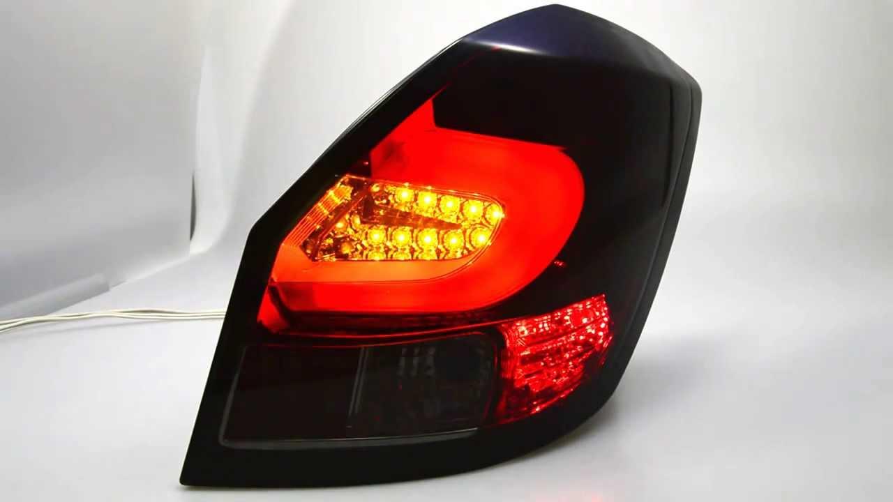 sw celis led r ckleuchten red smoke skoda fabia ii 5j. Black Bedroom Furniture Sets. Home Design Ideas