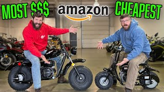 I BOUGHT the CHEAPEST and MOST EXPENSIVE Mini Bikes from Amazon