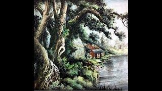 國畫山水影音教學園區-山水畫基礎 古木幽居-  林振彪  - Chinese Water Painting