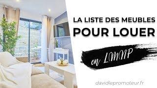 📎 LMNP location meublé : La Liste précise de tous les meubles