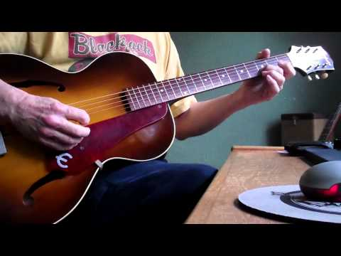 Epiphone Zenith 1951 vintage archtop guitar sound samples