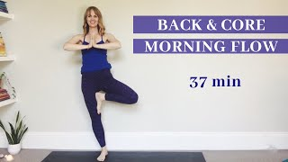 37 min MORNING YOGA Back & Core Flow // The Centre Holds It Together// SITM 16