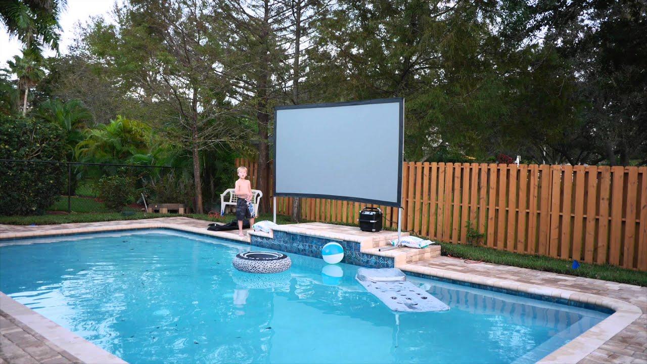 backyard theater system - YouTube
