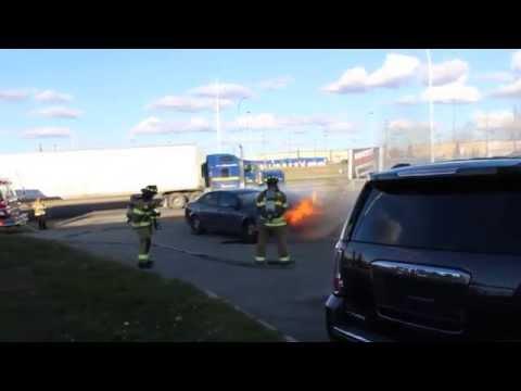 Car Fire at Capital GMC Buick, 9751 34 Avenue NW, Edmonton, AB T6E 5X9