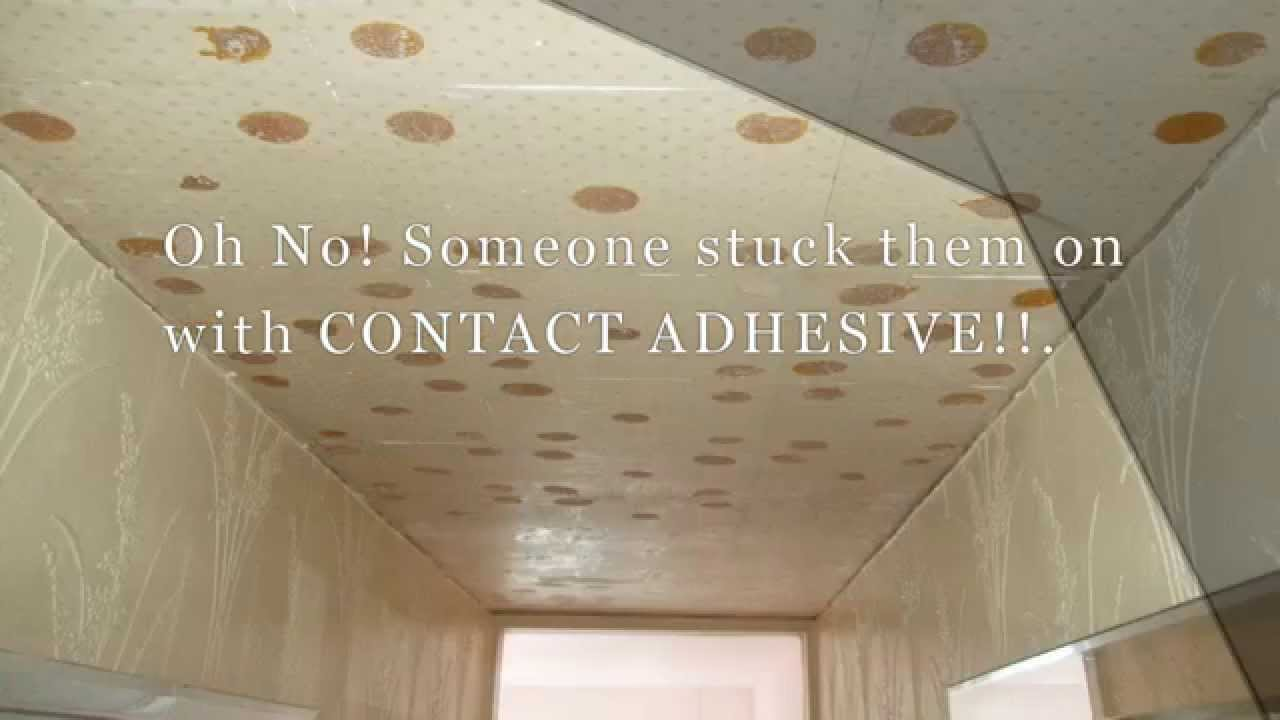 How to Remove Contact Adhesive From a Ceiling - YouTube