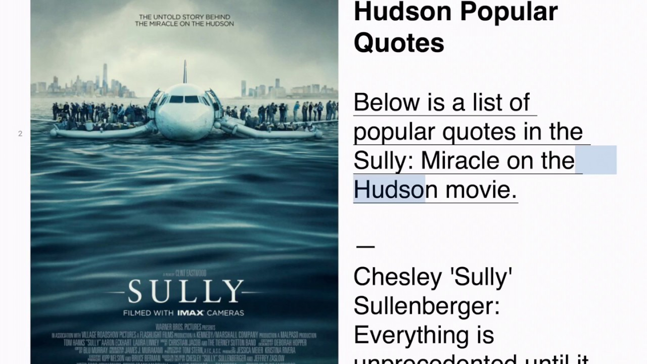 Sully Quotes Magnificent Sully Popular Quotes  Youtube