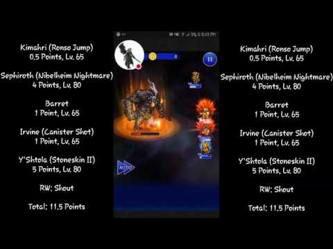 FFRK FFXIV The Lord of Crags Ultimate+ Tier Challenge (11.5 Point Party)