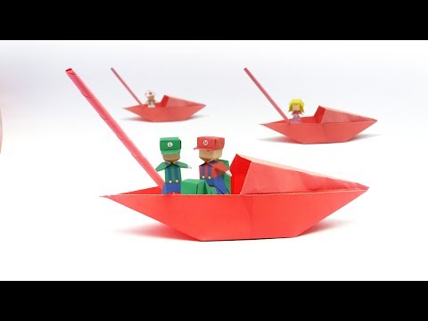 Remake Origami Paper Boat With Clear Concept | How To Make Speed Boat For Kids That Floats On Water