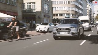 Audi Q7 e-tron - grubas na maratonie