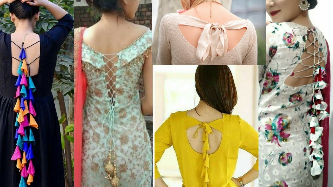 Images design ladies suit back neck 61 Trendy