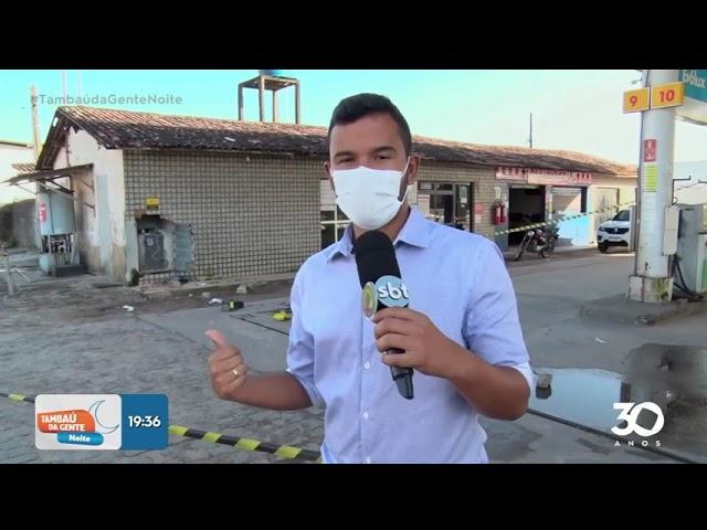 Bandidos tentam arrombar cofre de posto de combustiveis  - Tambaú da Gente Noite