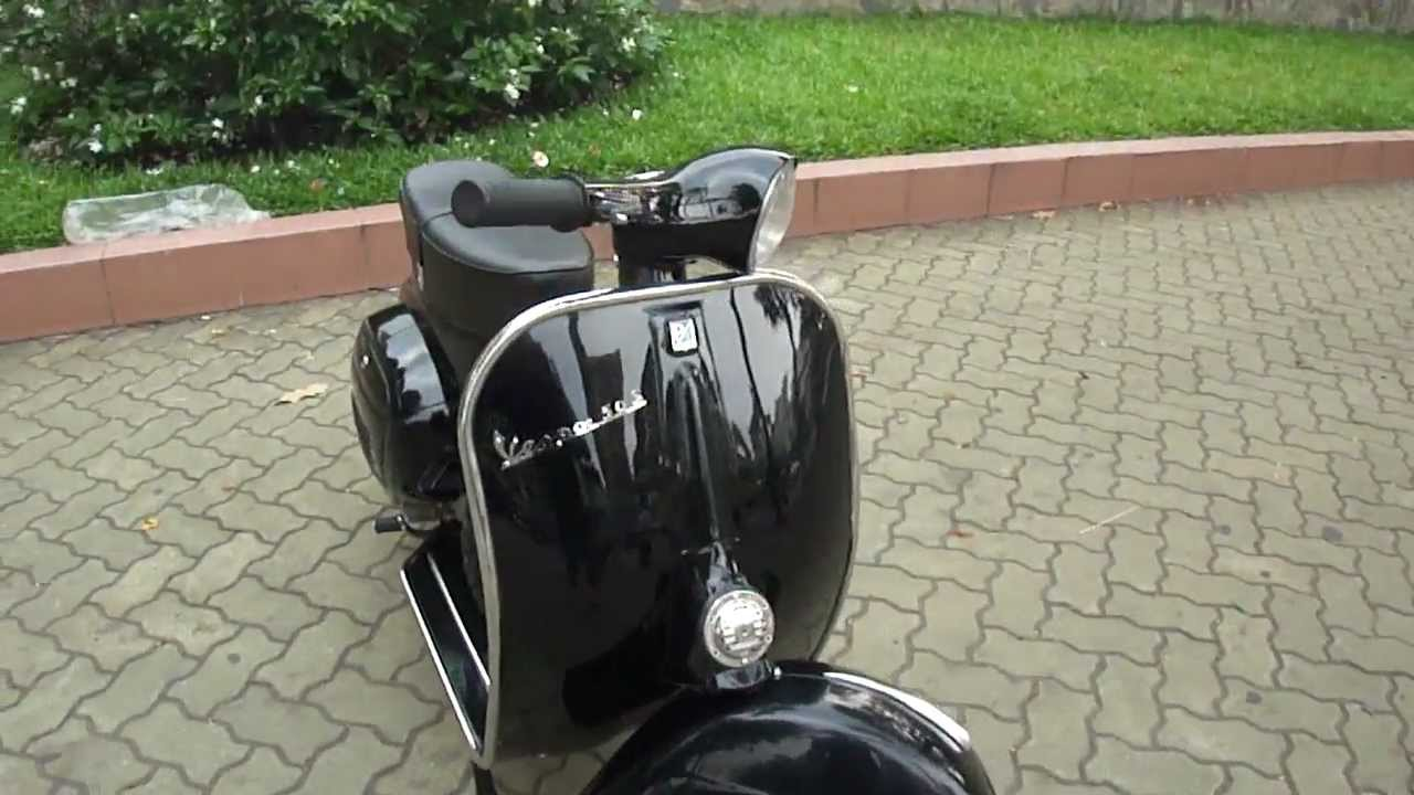 classic vespa mini 50cc in pure black id sv 0113 youtube. Black Bedroom Furniture Sets. Home Design Ideas