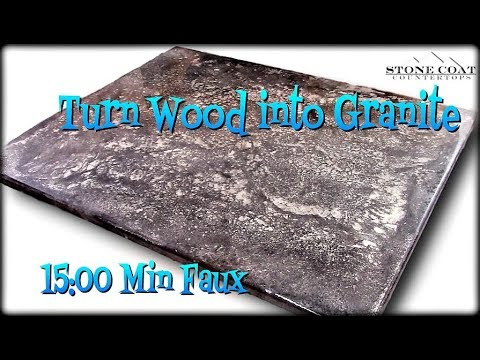 Turn Wood Into Granite, DIY Epoxy Countertops