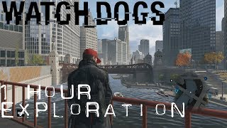 Watch Dogs: 1 Hour of Relaxing Background Sounds and Graphics - (No Talk Let's Play)