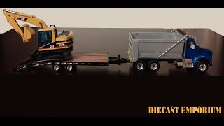 First Gear Kenworth T-880 Dump Truck & Tag Trailer