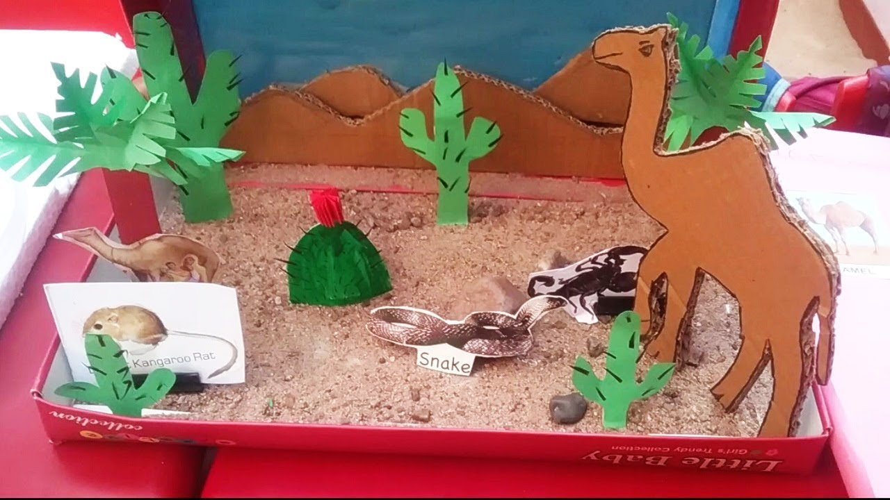 Kids School Project Ideas Types Of Animals Wild Animals Desert