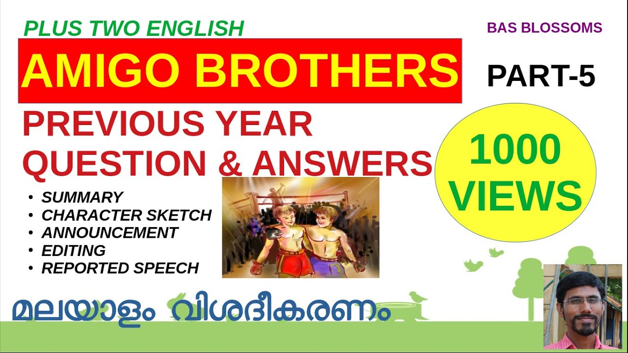 PREVIOUS YEAR QUESTIONS & ANSWERS   PLUS TWO ENGLISH ...