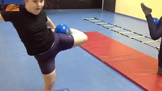 Художественная гимнастика Школа Волшебства  Синдром Дауна  3 месяц обучения