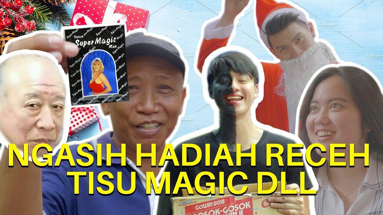 Download HYA HYA! BAGI2 HADIAH TISSUE MAGIC, PEMBALUT, DLL. JADI PIT HITAM DAN SINTERKLAS FEAT ANDY SUGAR.
