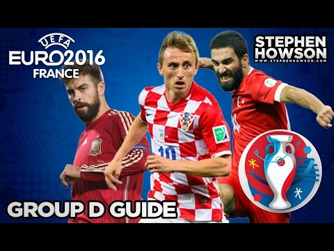 Group D; Croatia, Czech Republic, Spain & Turkey | Euro 2016 Guide