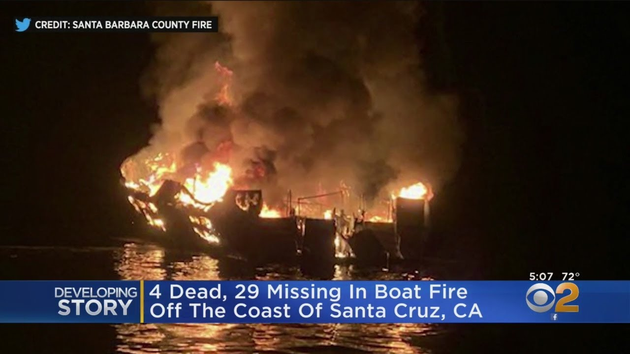 California boat fire: Four dead, 29 missing near Santa Cruz Island