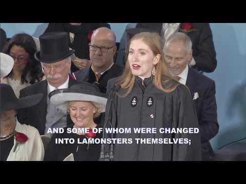 Latin Orator Jessica Rachael Glueck   Harvard Commencement 2017