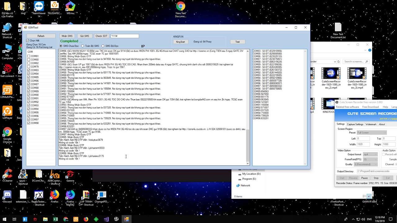 AutoTool #7 : Tool Game King kết hợp GSM chạy hàng loạt
