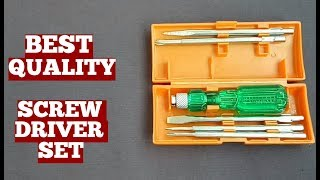 High Quality Screwdriver Set Taparia CO Made With Five Blades Including Poker-Unboxing And Review