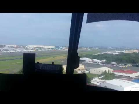 Helicopter Ride, Landing in General Aviation West Helipad