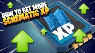 Fortnite Save the World | How to get more *SCHEMATIC XP* | New Players and Beginners Guide