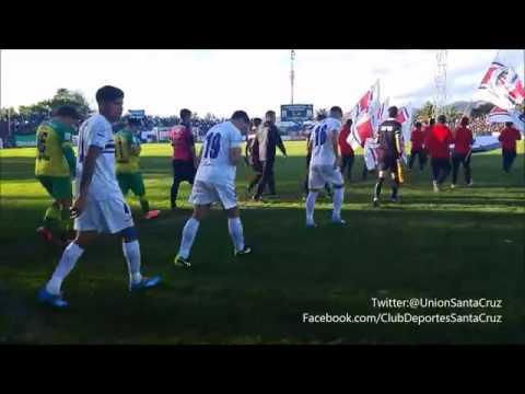Salida De la Banda Unionista🔵⚪ + Gol Deportes Santa Cruz Vs Dep.La pintana