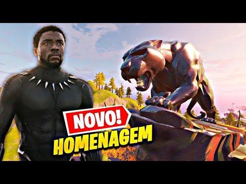 HOMENAGEM AO ATOR DE PANTERA NEGRA NO FORTNITE (Chadwick Boseman) - FORTNITE