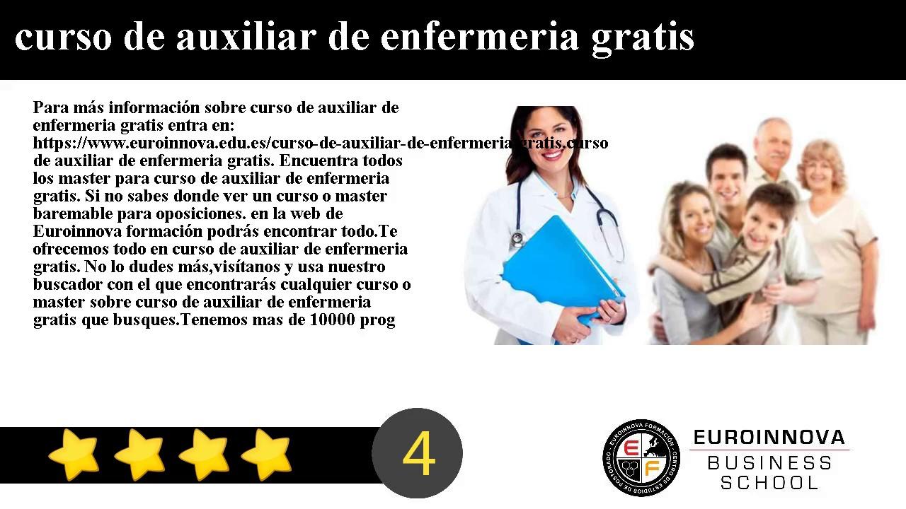 Curso De Auxiliar De Enfermeria Curso Homologado Euroinnova